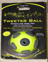 Whistling Tweeter Dog Ball by Hyper Pet