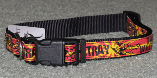 Black, red and yellow dog collar.