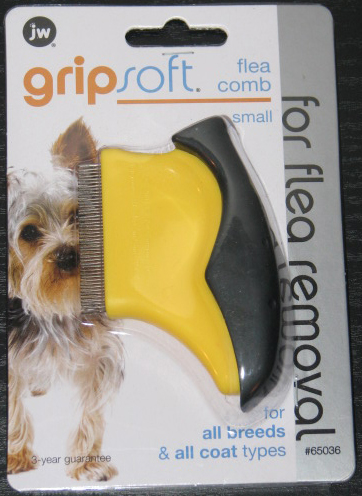 Flea Removal Comb in Black and Yellow